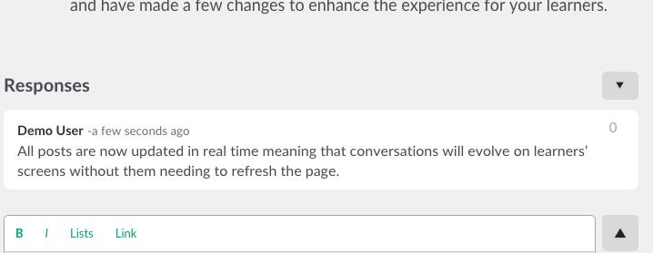 chat responses